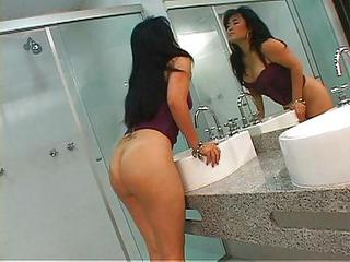 Ass Babe Bathroom Chubby