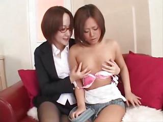 Japanese Teen Makes Her Cunt Squirt