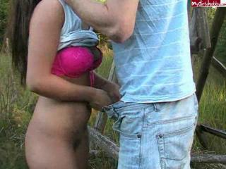 Amateur German Sweety Have Fun In The Forest