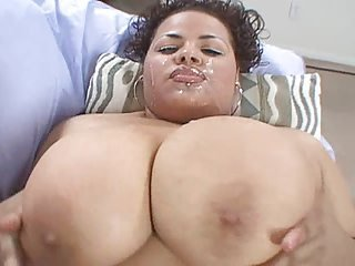 Big Tits Cumshot Facial Latina  Natural
