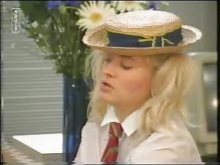 Amazing Blonde School Teen Uniform Vintage