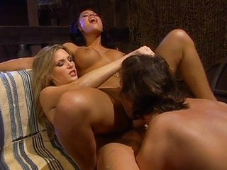 Big Tits Licking MILF Threesome