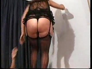 Hoe in lingerie anally drilled & facialized