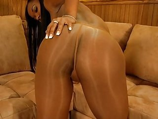 Ariel in pantyhose and didlo (Part  3 of 4)
