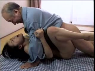 Japanese nympho haruka okoshi asks old man up fuck her