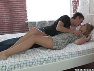 First anal date with gorgeous teen model