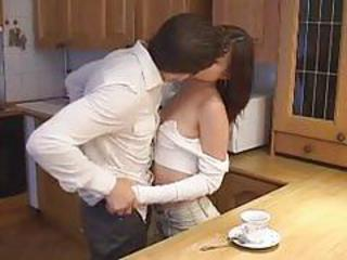 Asian Cute Japanese Kissing Kitchen Teen