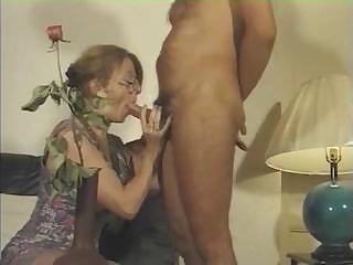 Blowjob European French Glasses Mature