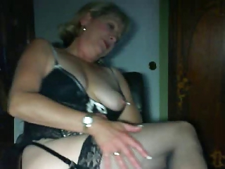 Homemade Lingerie Mature Stockings