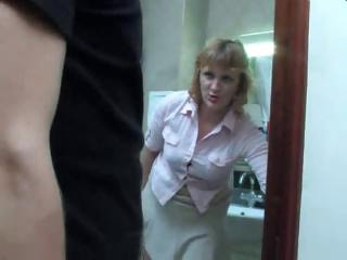 Bathroom Mature Mom