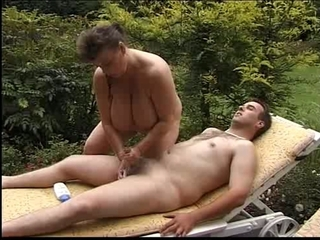 Big Tits Handjob Mature Natural Outdoor