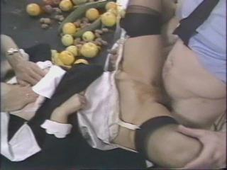 Clothed Hairy Hardcore Stockings Threesome Vintage