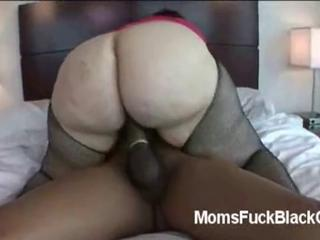 Mature fat ass BBW rides black stud in in ...