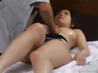 Teenage asian getting on the go body massaged