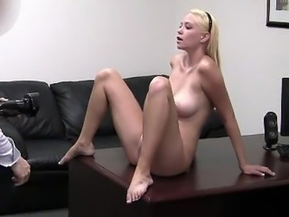 Amateur Blonde Casting Teen