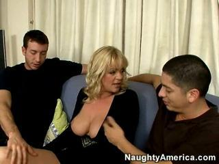 Big Tits Blonde British European  Threesome