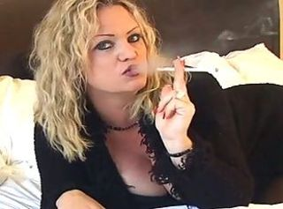 Amazing Blonde  Smoking