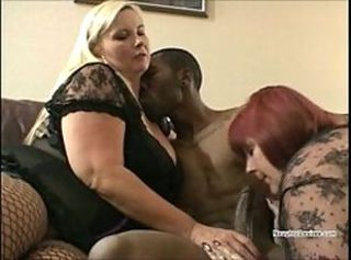 Black guy fucks two BBW cougars