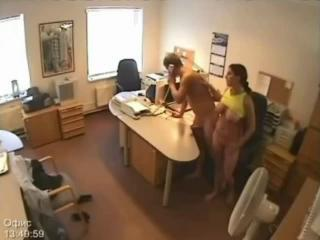 Secretary Fucking caught on Security Camera