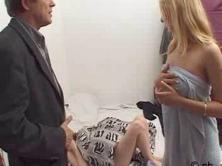 European French Old and Young Teen Threesome