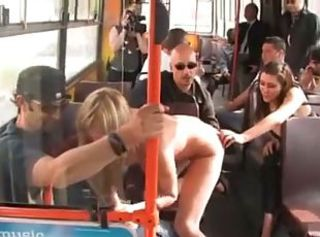 Strange movie shooting in a public bus