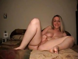 Sweet curvy girl talks and plays with pussy tubes