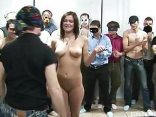 Amateur European Gangbang Party Teen
