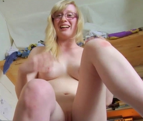 BLONDE SATINE PALE SKIN PINK NIPPLES