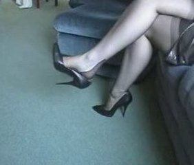 "Dangling Pumps In Seamed Nylons"" target=""_blank"