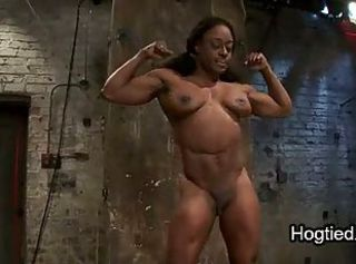 Huge boobs muscle sulky bound fucked in dungeon