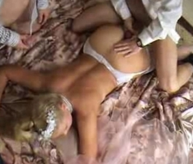 Ass Blonde Cuckold Russian Teen Threesome