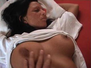Amateur Big Tits European German  Nipples Sleeping