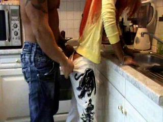 Nice Sexual Act In The Kitchen Room From Two Horny Lovers