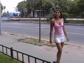 European Outdoor Public Skirt Teen