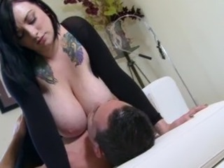 Scarlet's boobies beautifully bounce as she rides the cock.