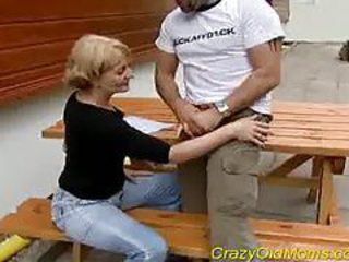 Crazy old mom gets blowjob sex tubes