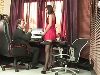 Russian agony aunt in pink fuck dissimulate at office Stream Movie