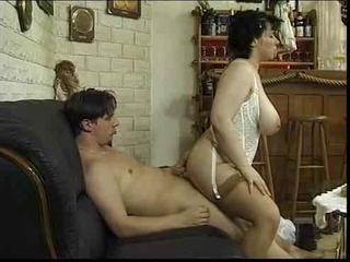 Big Tits European German  Natural Riding Stockings