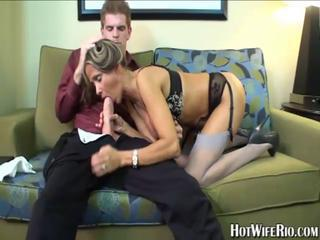 Blowjob Lingerie  Stockings