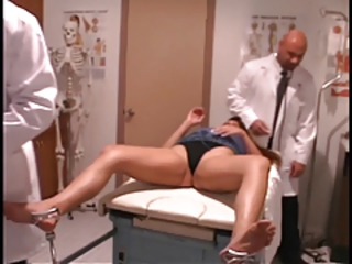 Hot patient gets her pussy and ass checked by hung doctors Runnel Movie