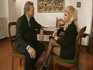 Blonde European Italian  Pornstar Stockings