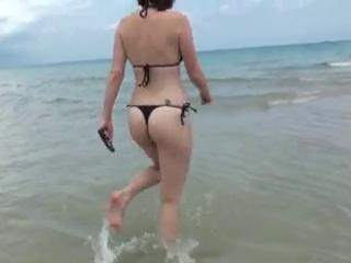 Beach Bikini First Time Outdoor