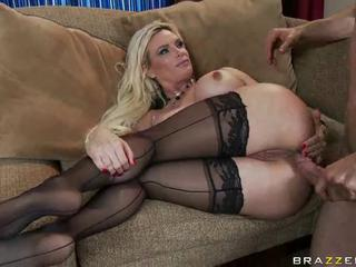 Anal Blonde  Pornstar Stockings