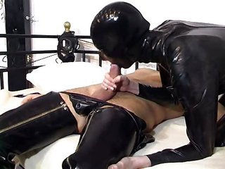 Blowjob European German Latex Mature