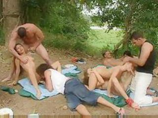 Orgy outdoors with hot chicks tubes