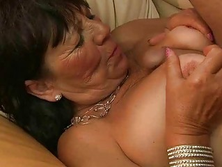 Lusty chubby grandma enjoys good fucking