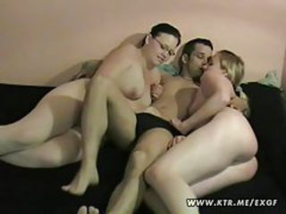 Amateur homemade hardcore threesome with cumshot tubes