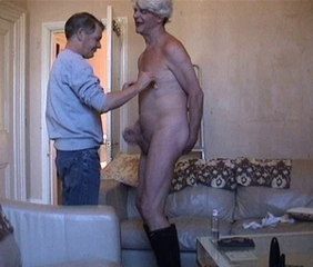 Street transvestite picked-up, abused then milked