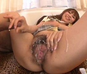 Asian Creampie Hairy Handjob Mature