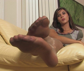 Brunette Feet  Stockings